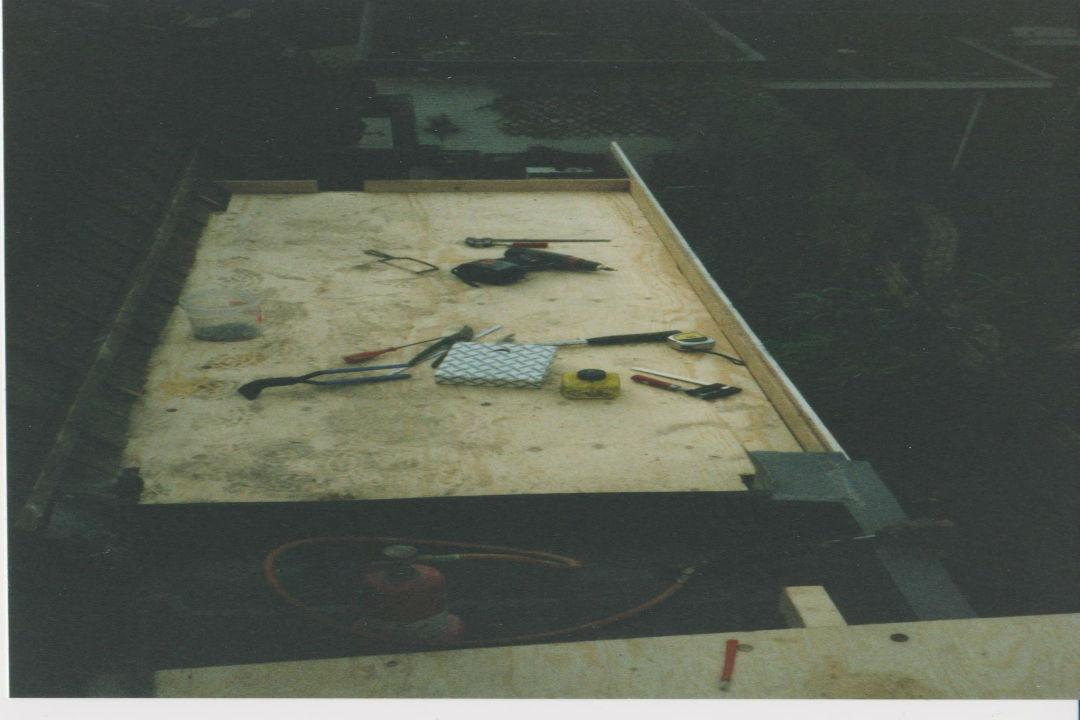 Dakbedekking-Zinken dak-voorbereiding